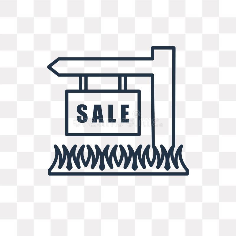 Für die Verkaufsvektorikone lokalisiert auf dem transparenten Hintergrund, linear lizenzfreie abbildung