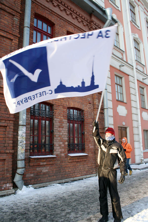 Für freie Wahlen in St Petersburg sich treffen, 2012 stockfoto