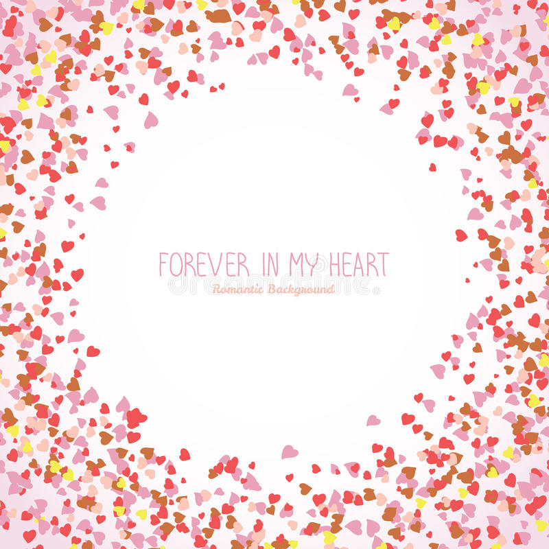 Für immer in meinem Herzen St.-Valentinsgrußpostkarte vektor abbildung