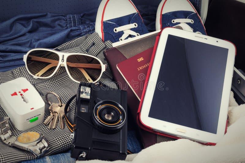 Für Reise sich vorbereiten, Reise, Reiseferien, Tourismusspott herauf Nahaufnahme Leerer Raum können Sie Ihren Text oder Informat stockbilder