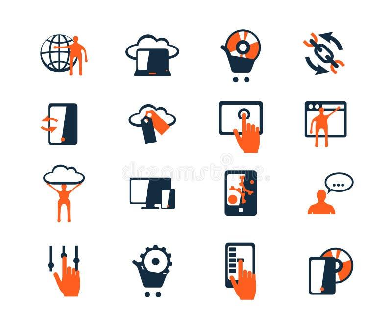Für Sie Entwurf Software und Web-Entwicklung, Marketing lizenzfreie abbildung