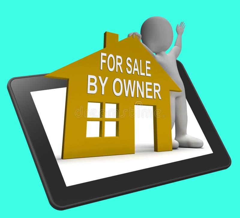 Für Verkauf durch die Inhaber-Haus-Tablet-Shows, die ohne Mittel verkaufen lizenzfreie abbildung