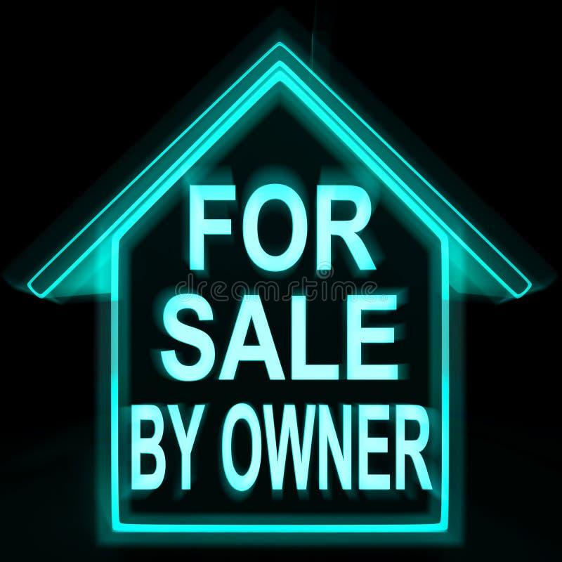 Für Verkauf durch Inhaber bedeutet Haus keine Kommission vektor abbildung