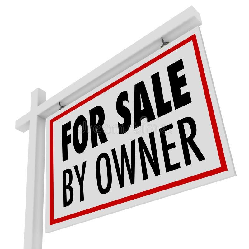 Für Verkauf durch Inhaber-Real Estate-Haus öffnen Sie Hausmarke vektor abbildung