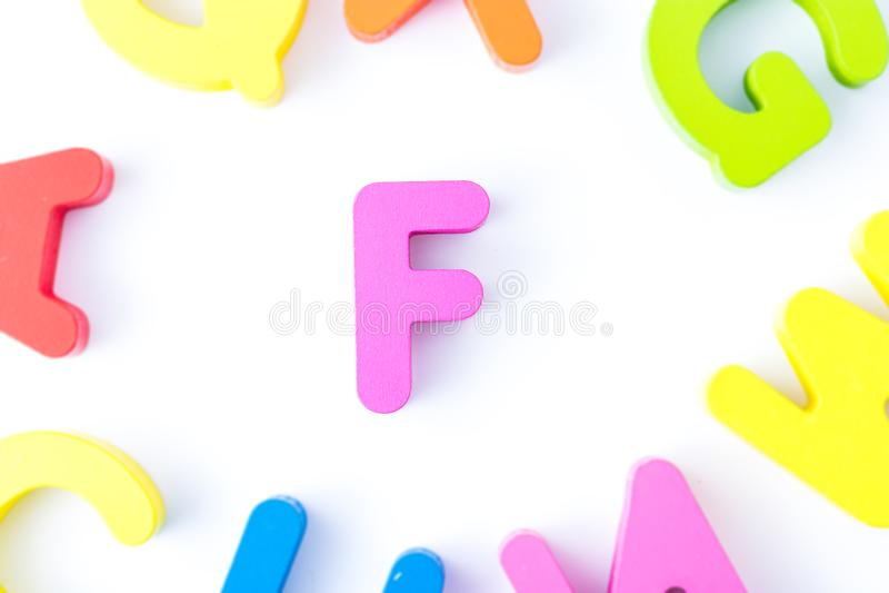 F信件用英语 库存图片