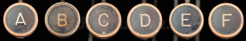 f锁上老打字机 库存照片
