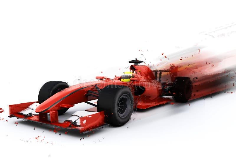 F1 γενικό αγωνιστικό αυτοκίνητο με το ειδικό εφέ διανυσματική απεικόνιση