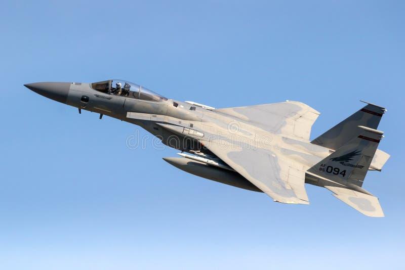 F15 Πολεμική Αεροπορία των Η.Π.Α. αετών στοκ εικόνα
