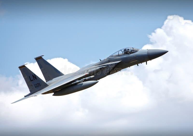 F15 πολεμικό τζετ στοκ εικόνες