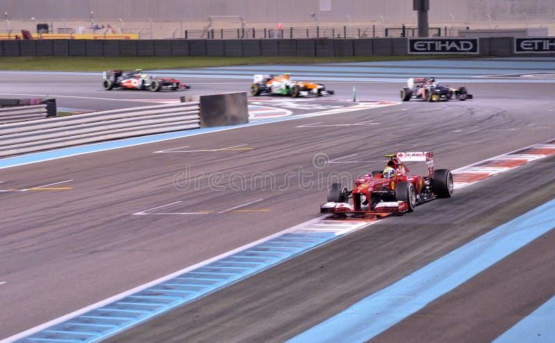 F1 Абу-Даби 2013 - Феррари 02 стоковая фотография