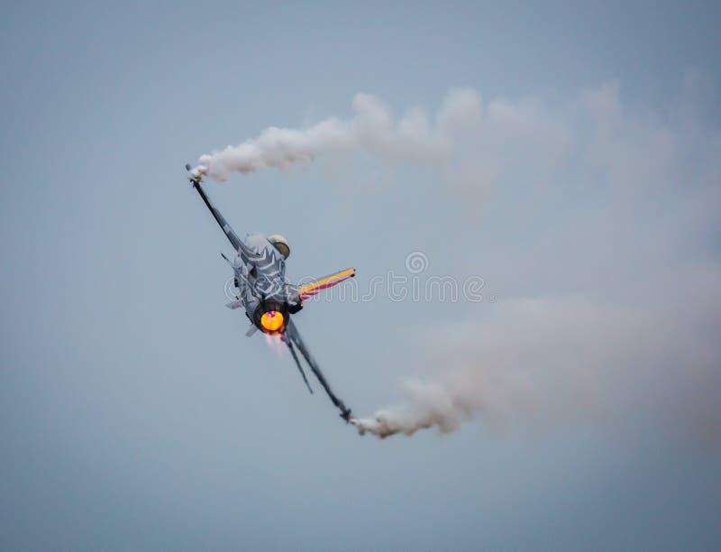 F-16军事喷射 图库摄影