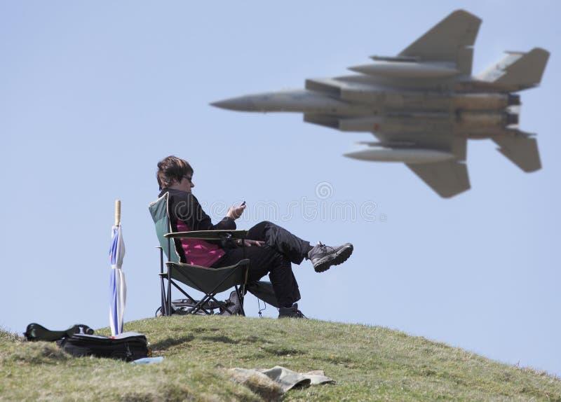 F15在马赫圈的喷气机 免版税库存图片