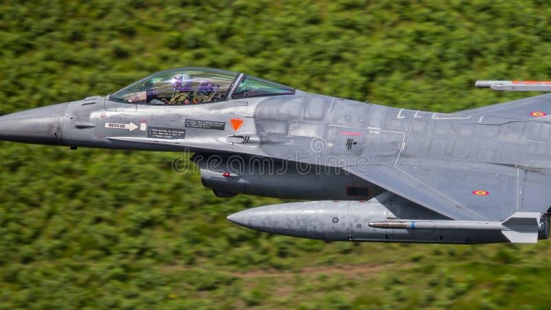 F-16战斗机航空器 免版税图库摄影