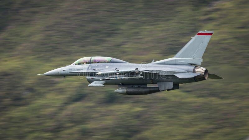 F-16战斗机航空器 库存图片