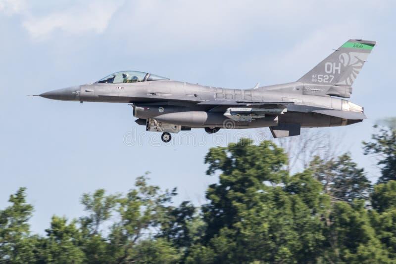 F-16战斗鹰,来自第180战斗机 库存图片
