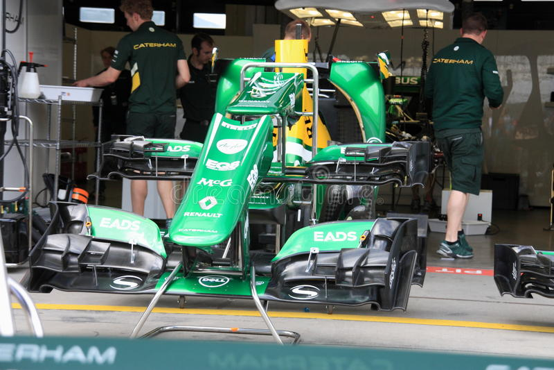 F1照片:惯例1 Caterham赛车 库存照片