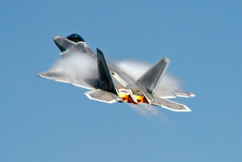 F-22猛禽秘密行动战斗机/轰炸机 库存图片