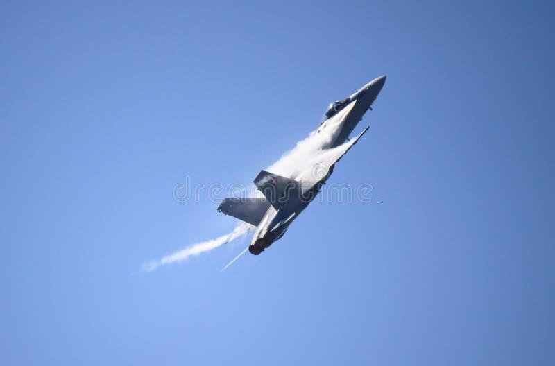F-18瑞士空军队的大黄蜂 免版税库存图片