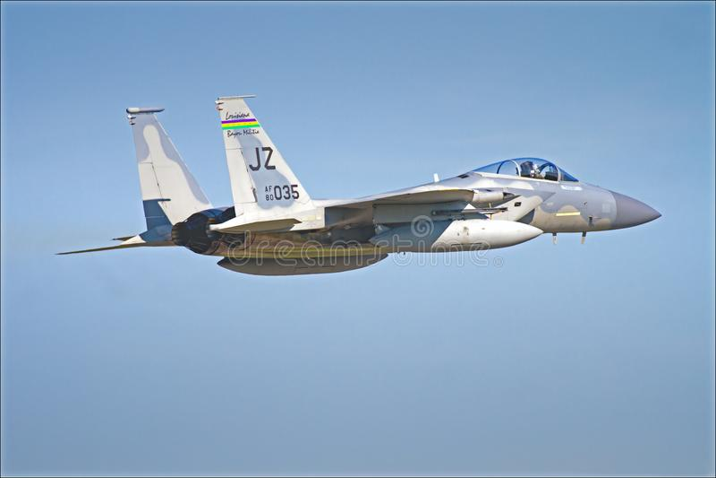 F15美国空军国民警卫队喷气机 库存照片