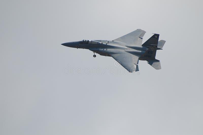 F-15老鹰跨线桥 图库摄影