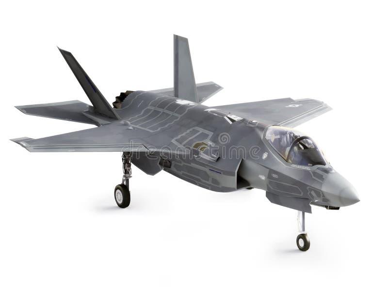 F35被渔的突击飞机 库存例证