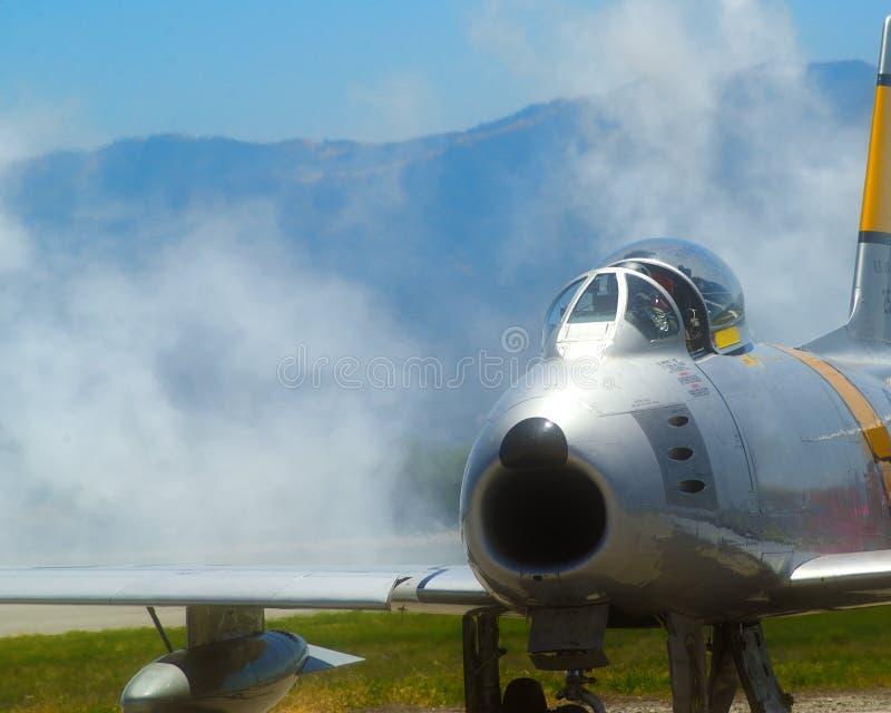 F 86马刀喷气机 库存照片