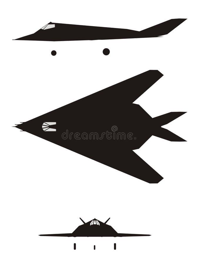F-117 royalty-vrije illustratie