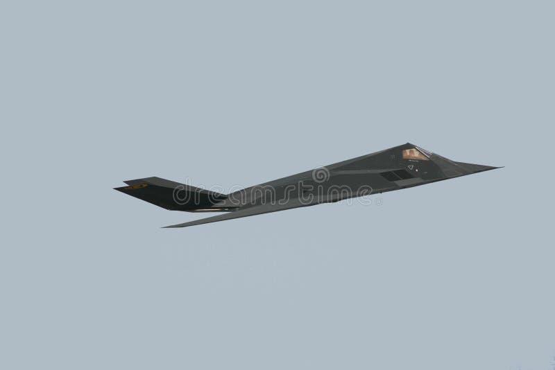 F-117 de Vechter van de heimelijkheid stock foto's