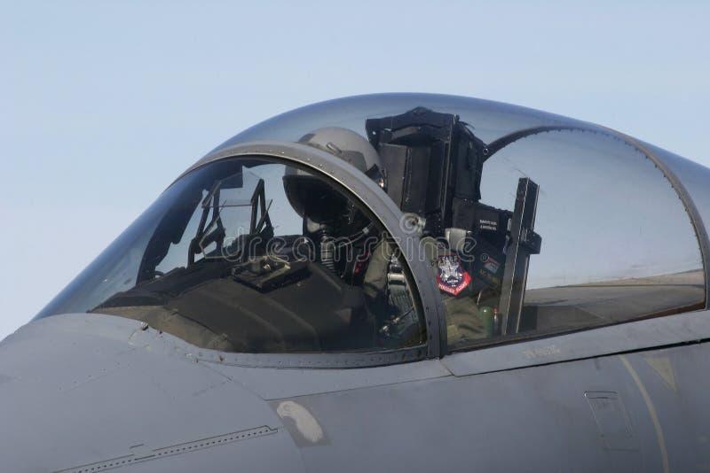 F-15 betriebsbereit zum Start stockbild