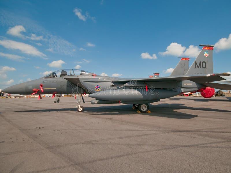 F-15 de Adelaar van de staking in Singapore Airshow 2010 royalty-vrije stock foto's