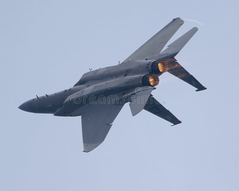 F-15 inversé images libres de droits