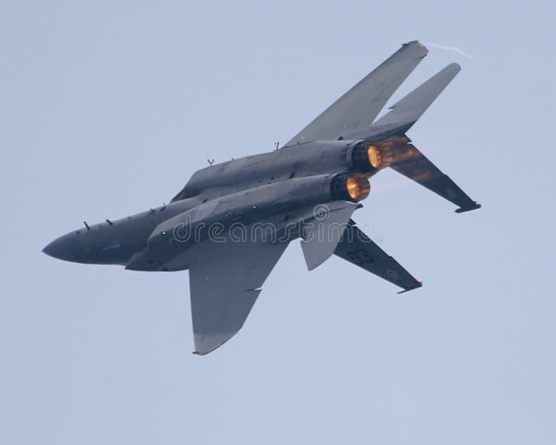 F-15 omgekeerd royalty-vrije stock afbeeldingen