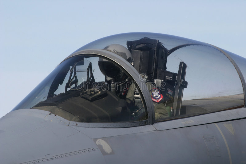 F-15 Ready for takeoff stock image