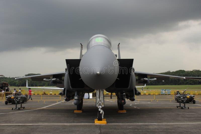 F-15SG Kampfflugzeug stockfotos