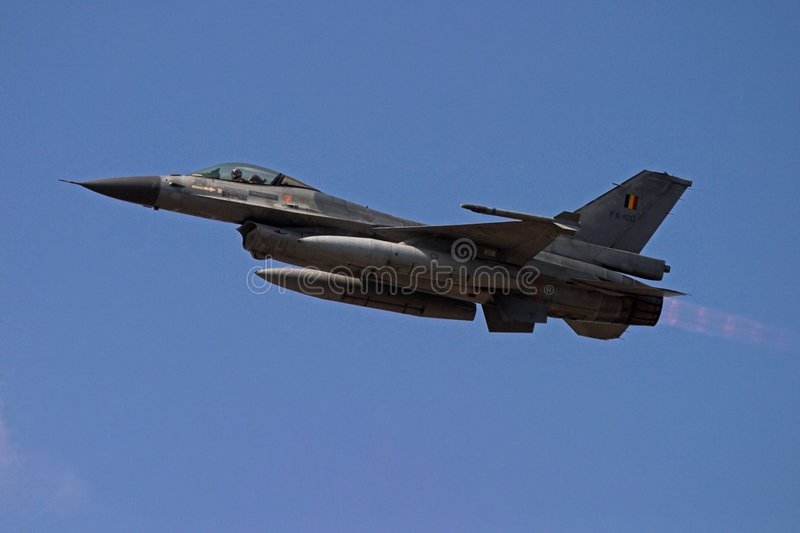 F-16 Afterburner royalty free stock photo