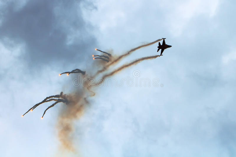 F-16 airshow royalty-vrije stock foto's