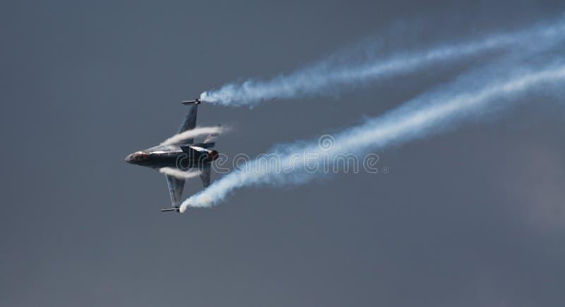 F-16 belga do componente do ar imagens de stock royalty free