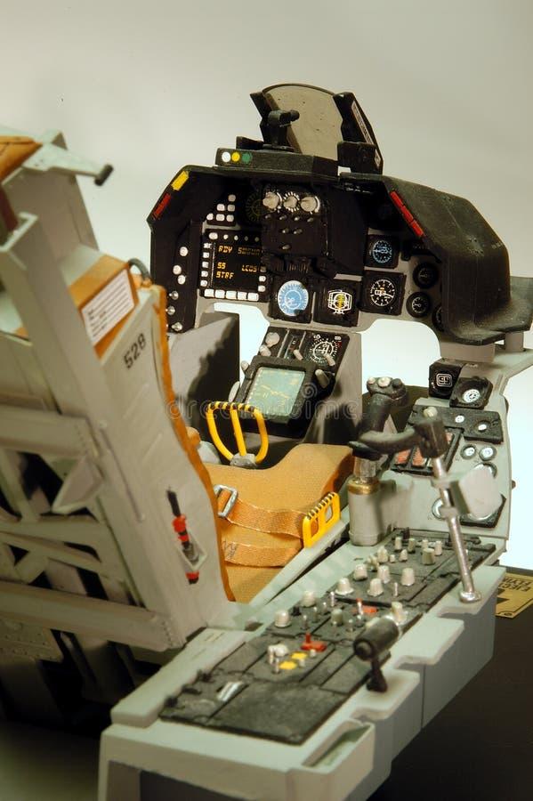 F-16 da cabina do piloto foto de stock
