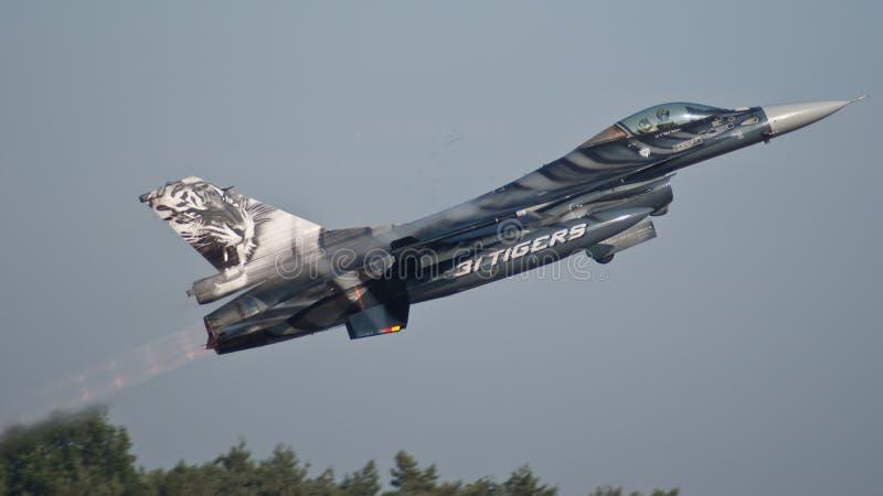 F-16 del belga immagini stock