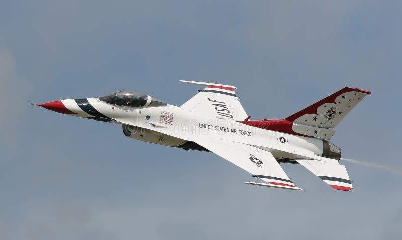 F-16 Fighting Falcon. Thunderbird Display Aircraft stock image