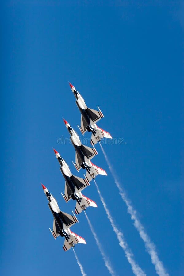 f 16 thunderbird myśliwów obraz stock