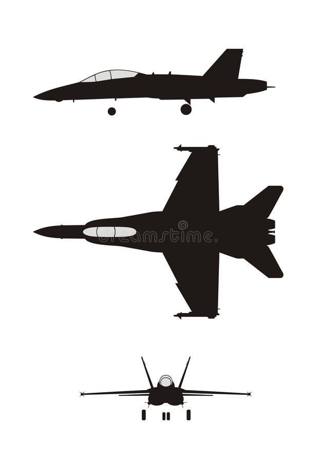 F-18 illustration stock
