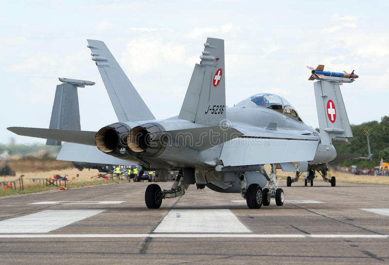 F-18 Hornet Fighter Jet Editorial Stock Photo