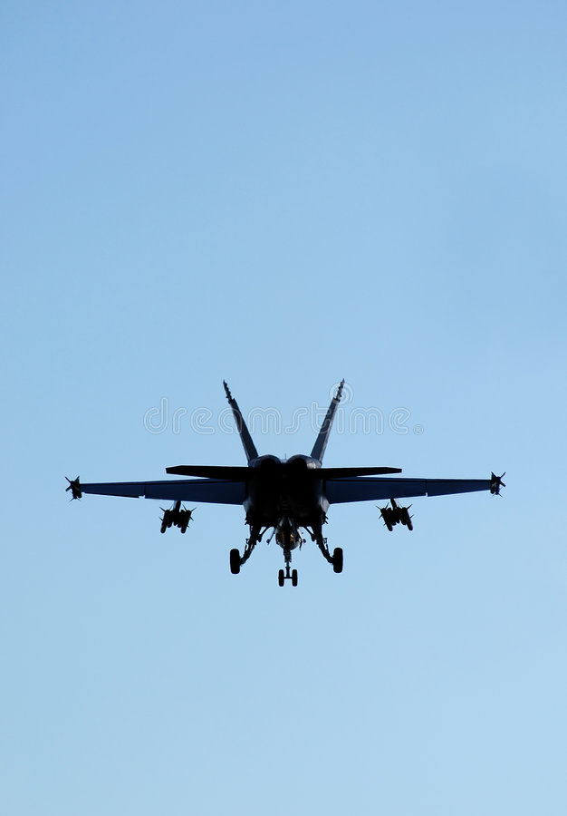 F-18 silhouet royalty-vrije stock fotografie