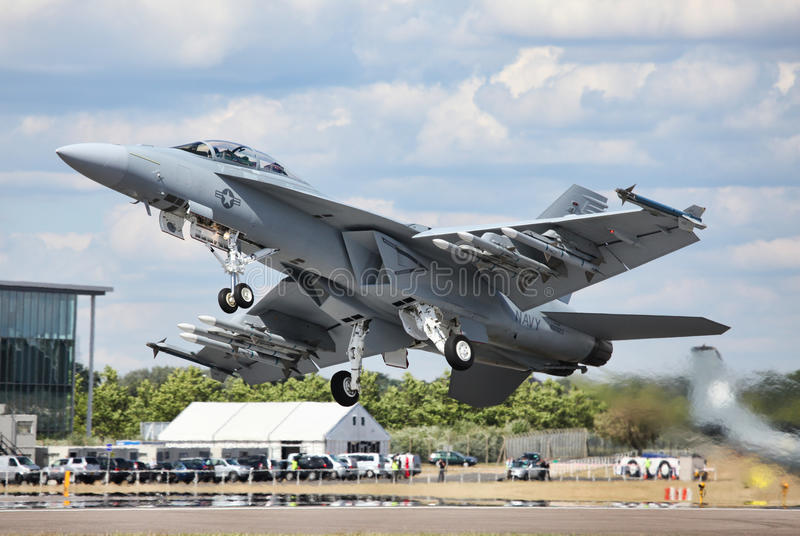 F-18 super Horzel royalty-vrije stock fotografie