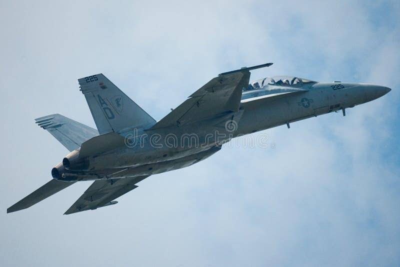 F/A-18E/F Superhornisse stockfotografie