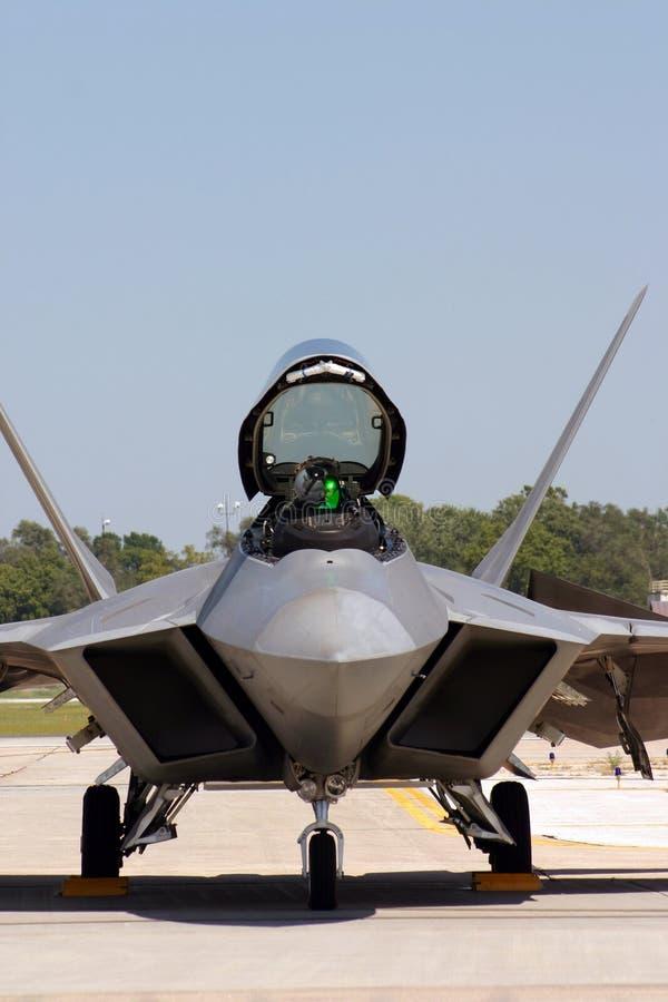 F-22 Dichte Omhooggaand van de roofvogel stock foto's