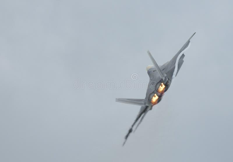 F-22 Raptor turning royalty free stock photos