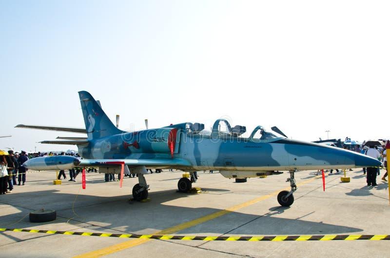 F-5E military fighter jet. BANGKOK - JANUARY 14 : F-5E on display at Don Muang Airshow, January 14, 2012, Don Muang Airport, Bangkok, Thailand stock images