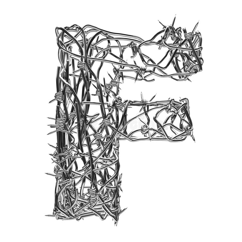 F royalty free illustration